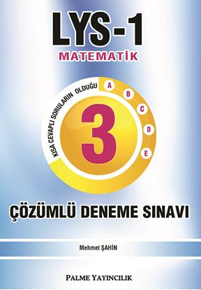 Resim LYS-1 MATEMATİK 3'LÜ ÇÖZÜMLÜ DENEME