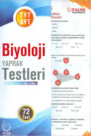 resm YKS TYT-AYT BİYOLOJİ YAPRAK TESTLERİ  ( 72 TEST )