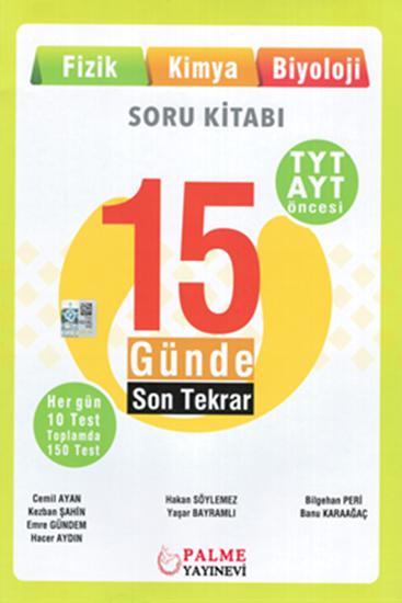 resm YKS TYT ÖNCESİ 15 GÜN.SON TEKRAR ( FİZİK,KİMYA,BİYOLOJİ)