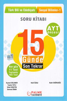 Resim YKS AYT 15 GÜN.SON TEKRAR T.DİLİ VE ED.SOSYAL BİL.-1