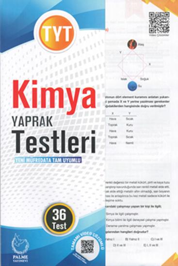 resm TYT KİMYA YAPRAK TEST ( 36 TEST )