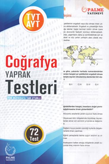 resm TYT-AYT COĞRAFYA YAPRAK TEST (72 TEST)