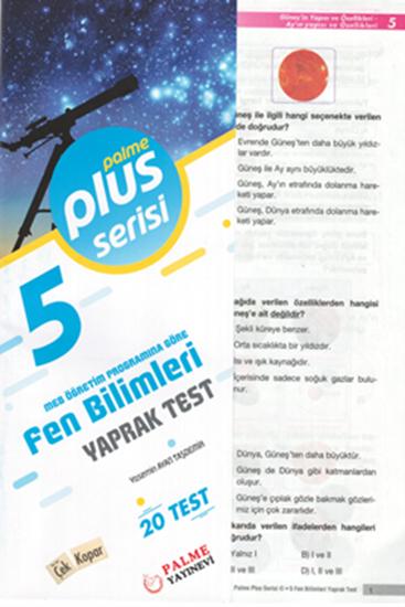 resm 5.SINIF FEN BİLİMLERİ YAPRAK TEST (20 TEST )