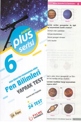 Resim 6.SINIF FEN BİLİMLERİ YAPRAK TEST (24 TEST )