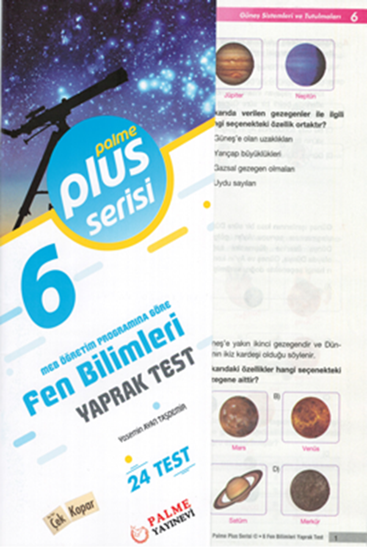 resm 6.SINIF FEN BİLİMLERİ YAPRAK TEST (24 TEST )