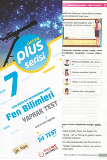 resm 7.SINIF FEN BİLİMLERİ YAPRAK TEST (24 TEST )