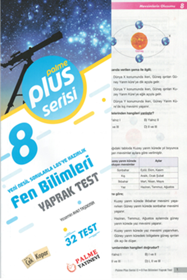 resm 8.SINIF FEN BİLİMLERİ YAPRAK TEST (32 TEST )