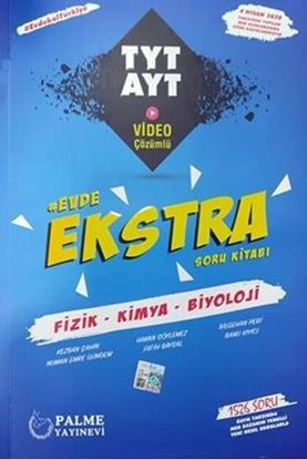 Resim Evde Ekstra TYT - AYT Fizik-Kimya-Biyoloji Soru Kitabı