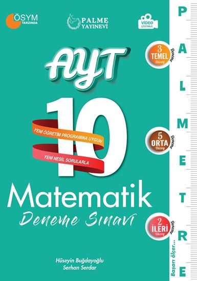 resm AYT 10 MATEMATİK DENEME SINAVI ( PALMETRE SERİSİ )